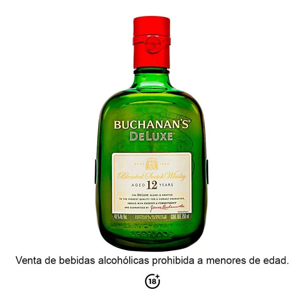 Whisky Buchanans De Luxe 12 años escocés 750 ml 7feded0145d