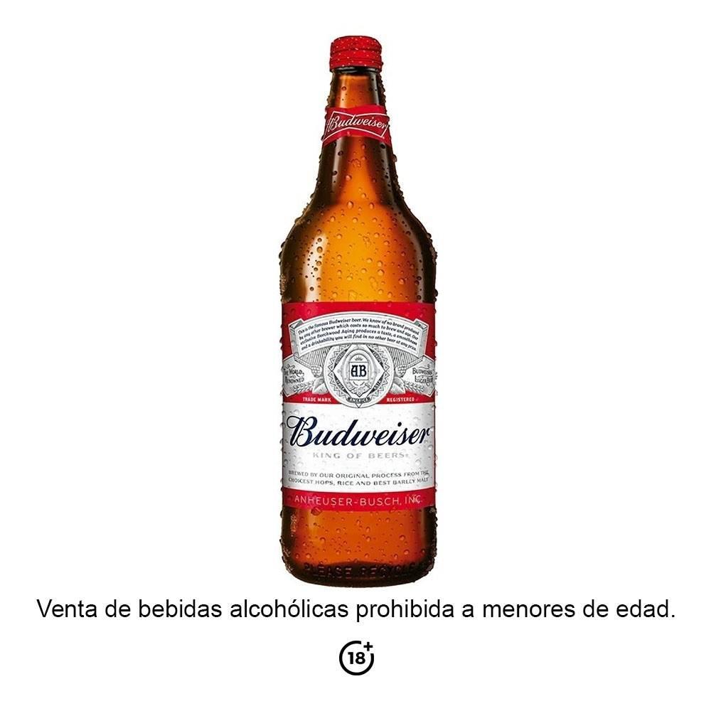 Cerveza Importada Budweiser 1 Botella De 946 Ml Walmart