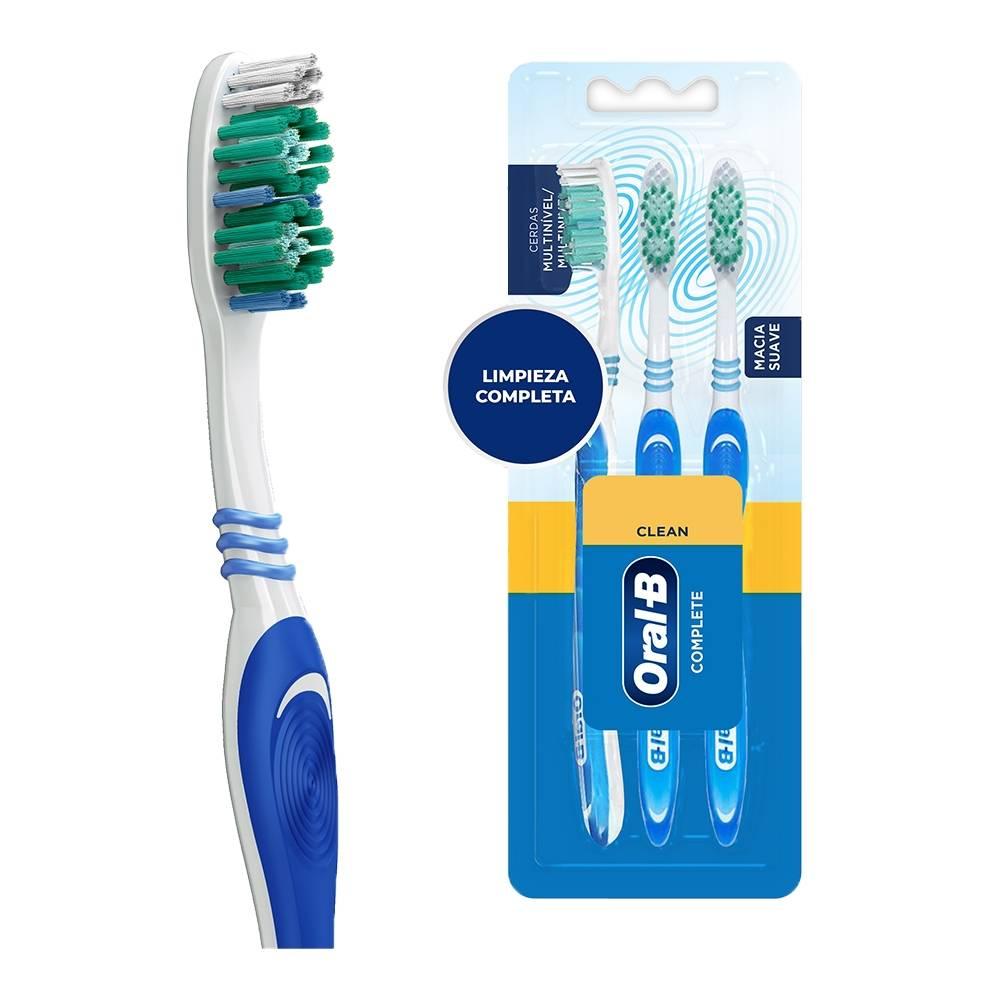 Cepillo dental Oral B Complete suave 1 paquete con 3 pzas  e7c1badeb725