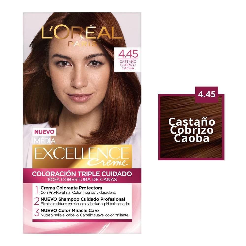 Color de cabello caoba l'oreal