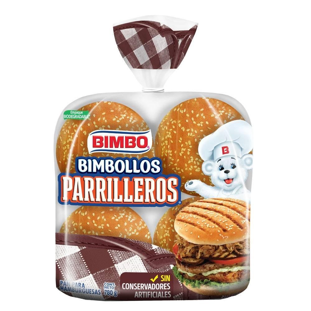 Pan para hamburguesa bimbo bimbollos parrilleros 8 pzas | Walmart