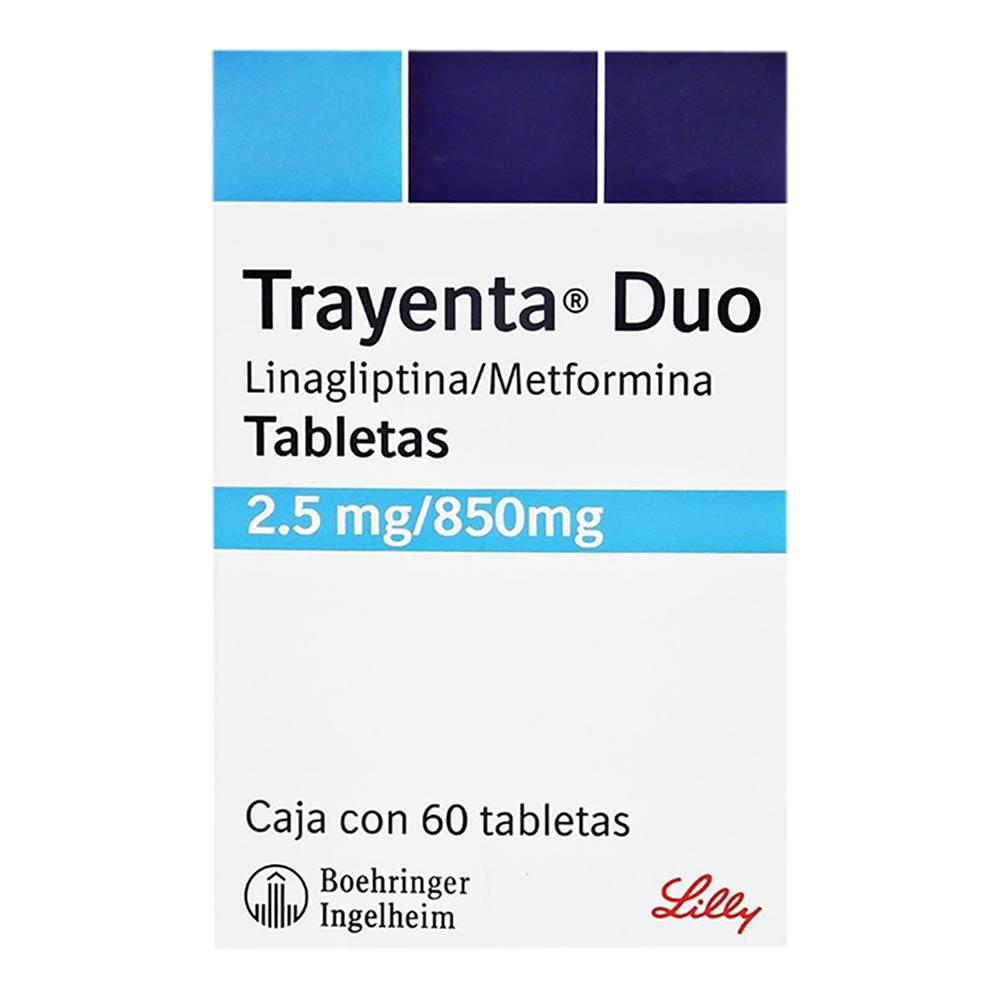 Usado, Trayenta duo 2.5 mg/850 mg 60 tabletas segunda mano