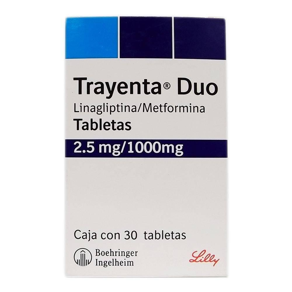 Trayenta Duo 2.5 mg/1000 mg 30 tabletas, usado segunda mano