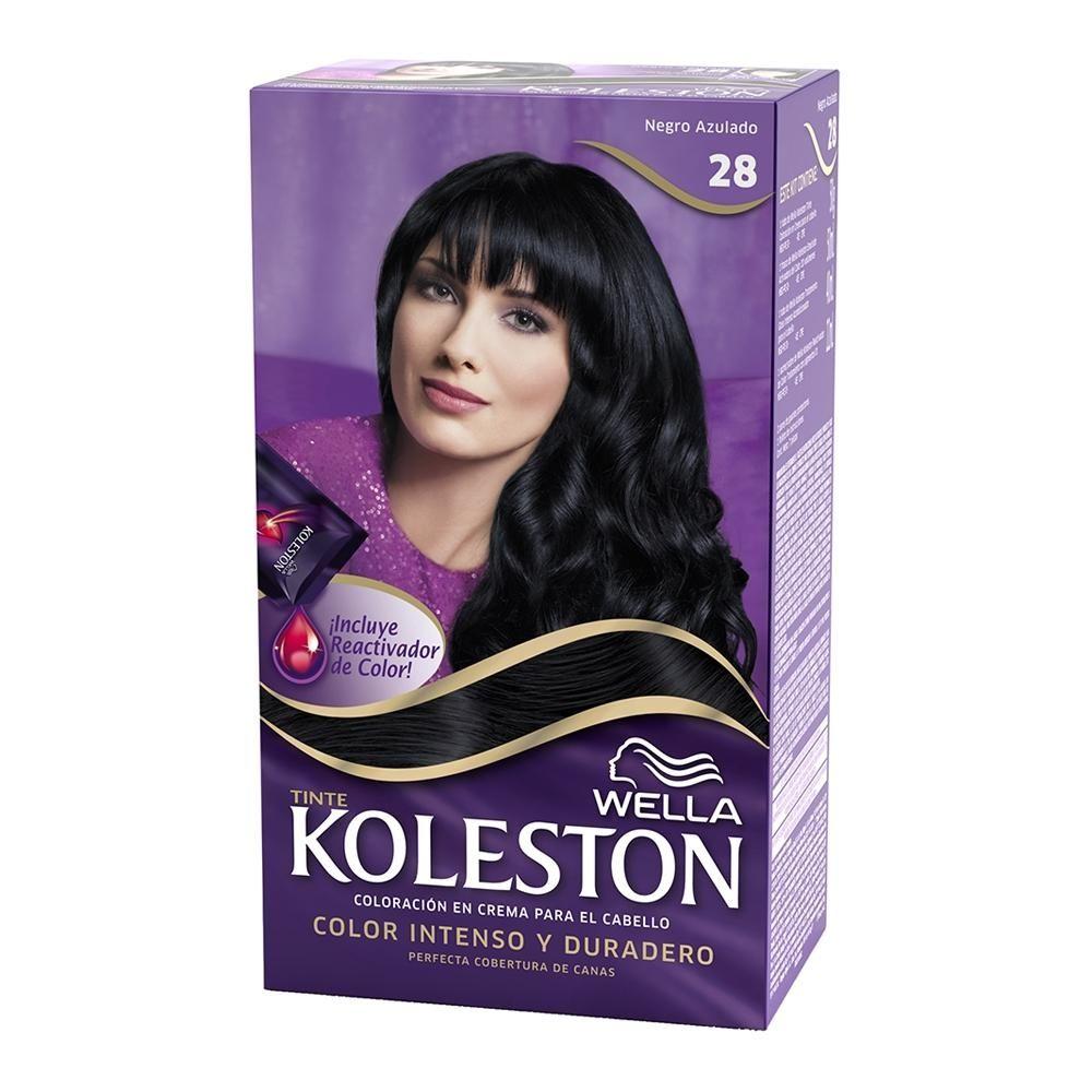 Tinte para cabello Koleston 28 negro azulado  90aa178fe576