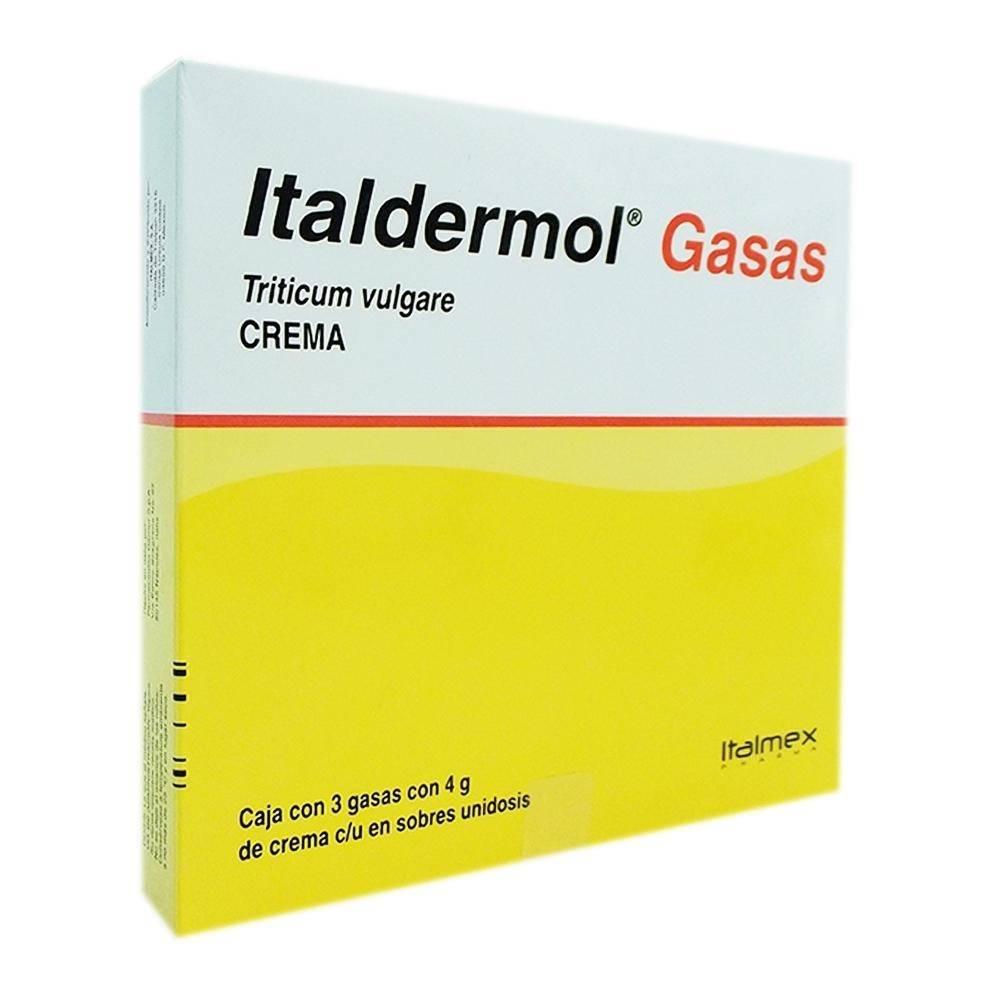Gasas Italdermol Triticum Vulgare 150 Mg G Crema 3 Pzas Con 4 G