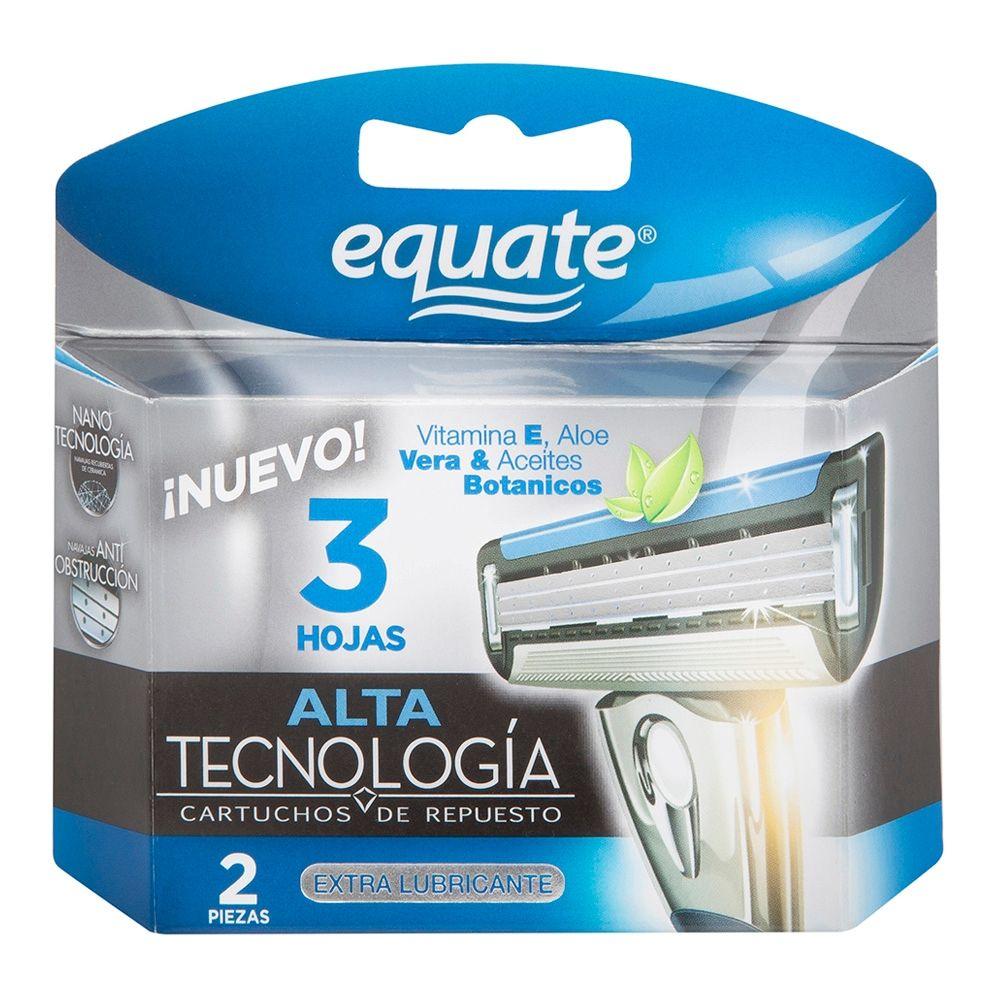 Cartuchos para afeitar Equate E3 extra lubricante 3 hojas 2 pza ... 903ace5dccd4
