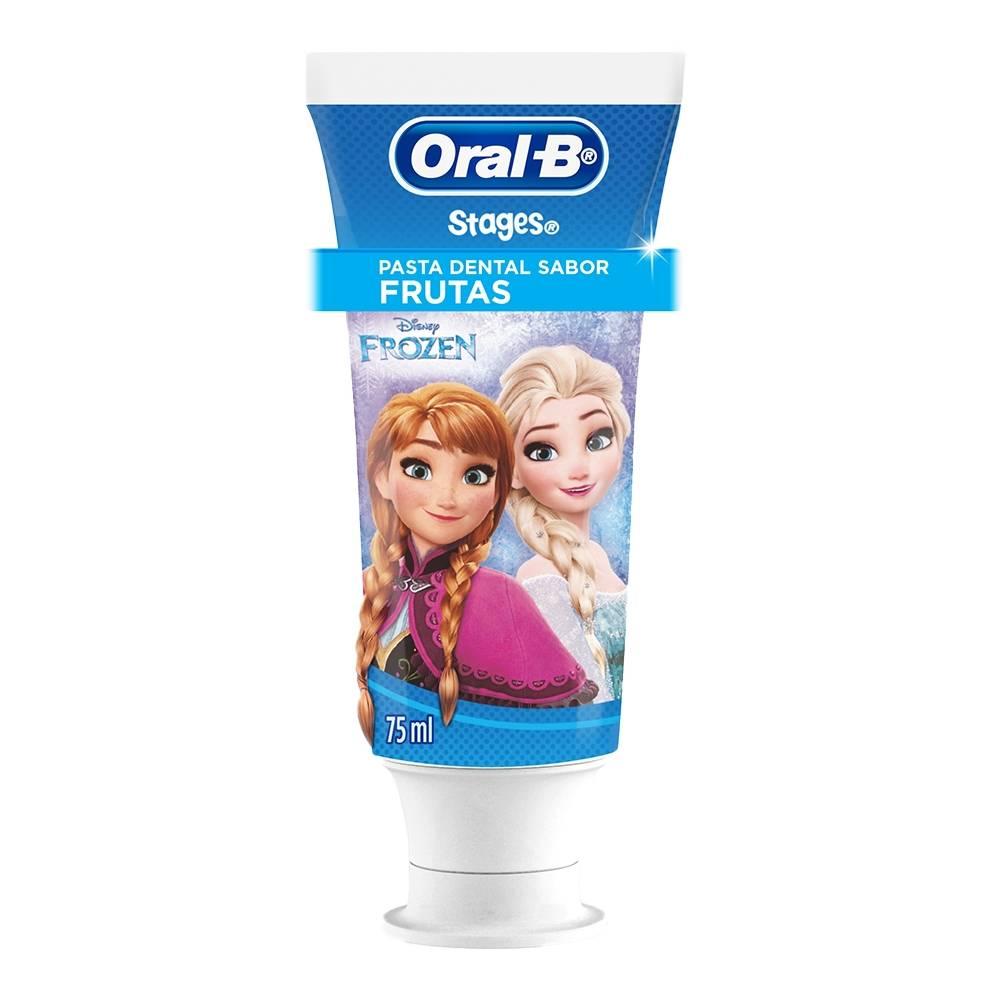 Pasta dental Oral B Pro Salud stages Frozen sabor frutas con flúor para  niños 75 ml 861a77f858a1