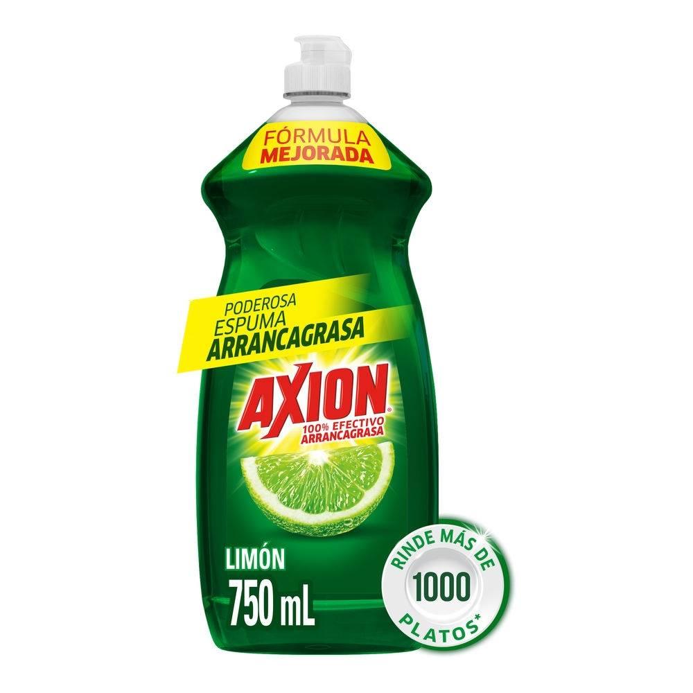 Lavatrastes líquido axion aroma limón 750 ml | Walmart