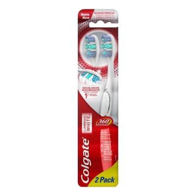 Cepillo dental Colgate Luminous White 360° advanced 1 paquete con 2 pzas fbd38a67614c