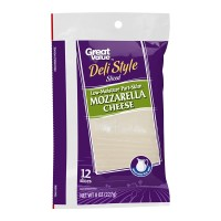 Queso mozzarella Great Value deli style 12 rebanadas 227 g
