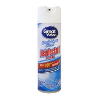 Desinfectante Great Value fresh linen scent en aerosol 538 g