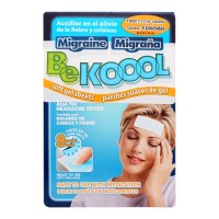 Parches de gel Be Kool para migraña 4 pzas