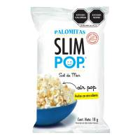 Palomitas Slim Pop sabor natural sal de mar 18 g