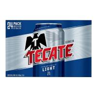 Cerveza clara Tecate light 24 latas de 355 ml c/u