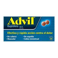 Advil 200 mg tabletas 100 pzas