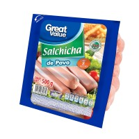 Salchicha Great Value de pavo 500 g