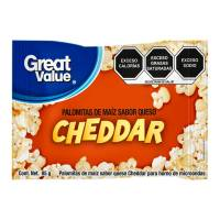 Palomitas para microondas Great Value sabor cheddar 85 g