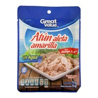 Lomo de atún Great Value aleta amarilla en agua 74 g