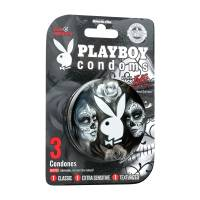 Condones Playboy edición limitada retro play pack 3 pzas