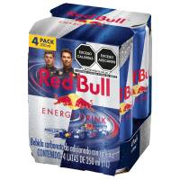 Bebida energética Red Bull Energy Drink 4 latas de 250 ml c/u